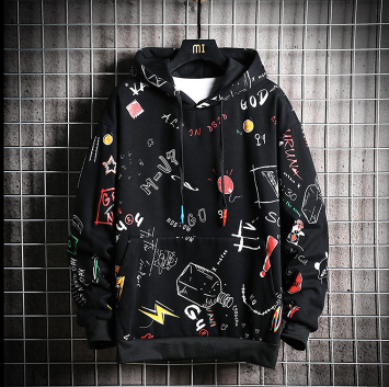 Black scribble sweatshirt on clearance sale - Jacket Limited offer