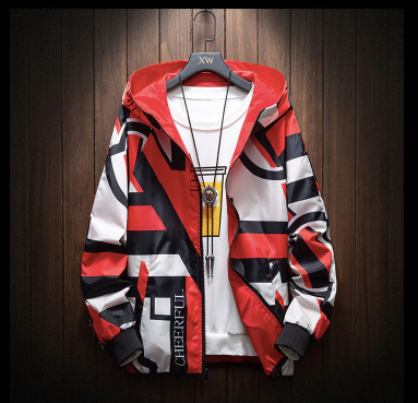 Red Multi-Colour Jacket on clearance sale - Jacket Limited offer