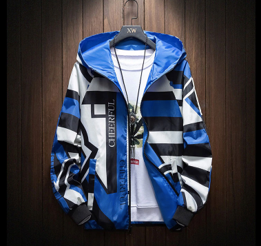 Blue Multi-Colour Jacket on clearance sale - Jacket Limited offer