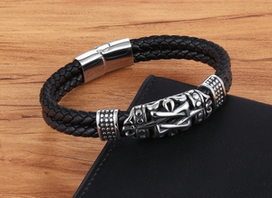 Black grey tribal bracelet on sale - Hand accessory