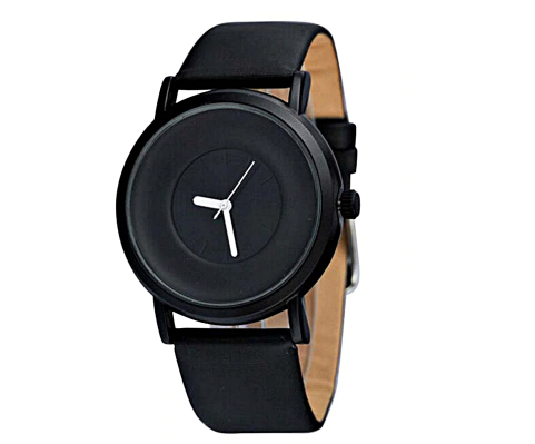 Black classic numberless analogue battery operated - Analogue wrist wear