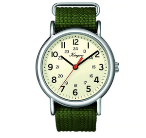 Green nylon analogue battery operated - Analogue wrist wear
