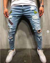 Load image into Gallery viewer, Patch Print Premium Jeans - 100% Premium Denim