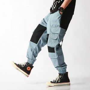 Blue CARGO jOGGERS - 100% Cotton Street Wear 24 Hour Clearance Sale