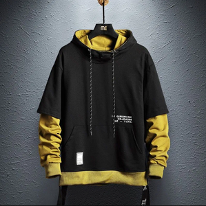 Black and Yellow Hoodie - Street Wear- 24 Hour Clearance Sale