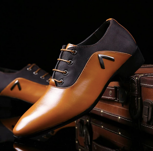 Brown Leather Designer shoes on Clearance Sale