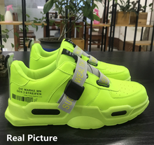 Load image into Gallery viewer, Lime Green Flouro Comfy - Sneakers Clearance sale Shoes