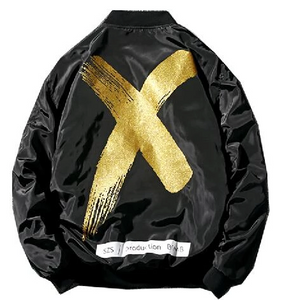 Black-Gold X  Poly Jacket - Street Wear- 24 Hour Clearance Sale