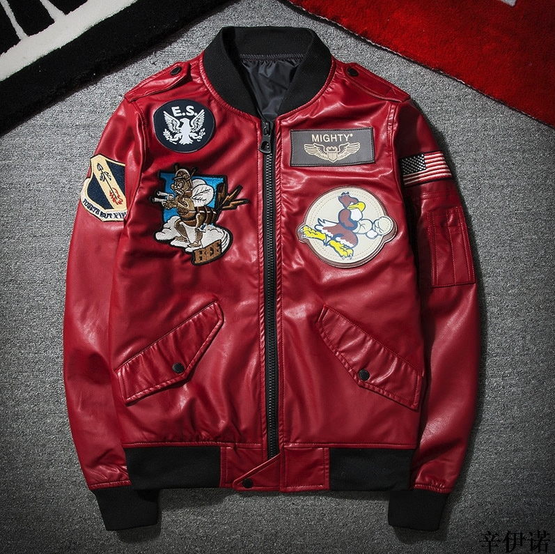 Leather Red Jacket - Street Wear- 24 Hour Clearance Sale