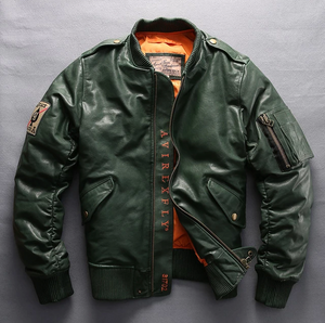 Leather Green Jacket - Street Wear- 24 Hour Clearance Sale