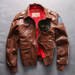 Leather Tan Patch warm Jacket - Street Wear- 24 Hour Clearance Sale