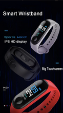 Load image into Gallery viewer, Blue Smart Heart Rate Blood Pressure Smart Band Fitness Tracker Smartband Wristband Gbp Ggp