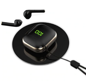 Black Mids High Bass tws Wireless Charging Siri Google Assistant Ggp- On Limited Time Sale - Last Few Left