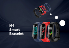 Load image into Gallery viewer, Red Smart Heart Rate Blood Pressure Smart Band Fitness Tracker Smartband Wristband Gbp Ggp