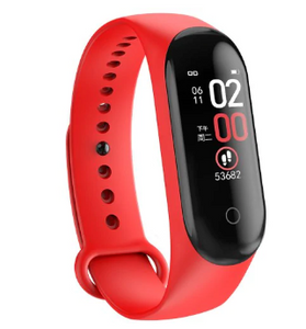 Red Smart Heart Rate Blood Pressure Smart Band Fitness Tracker Smartband Wristband Gbp Ggp