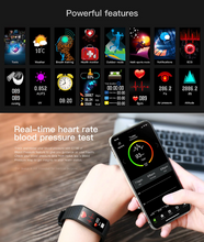 Load image into Gallery viewer, Smart Blue Heart Rate Blood Pressure Smart Band Fitness Tracker Smartband Wristband Gbp Ggp
