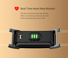 Load image into Gallery viewer, Black and Gold Smart Heart Rate Blood Pressure Smart Band Fitness Tracker Smartband Wristband Gbp Ggp