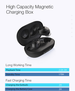 Extra Basse Design TWS Wireless Charging Siri Google Assistant Ggp- On Limited Time Sale - Last Few Left