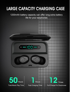 Long battery Design TWS Wireless Charging Siri Google Assistant Ggp- On Limited Time Sale - Last Few Left