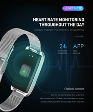 Load image into Gallery viewer, 115PLUS Health Bracelet Heart Rate Blood Pressure Smart Band Fitness Tracker Smartband Wristband Gbp Hslop Ggp