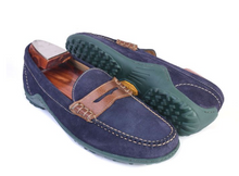 Load image into Gallery viewer, Blue and green loafers on clearance sale Hslop