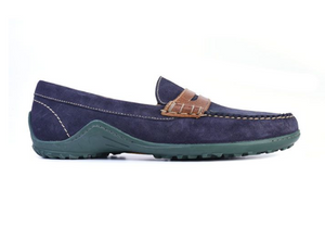 Blue and green loafers on clearance sale Hslop