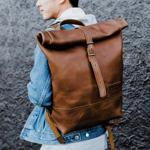 tan Brown Duffle Travel bag - hslop back pack