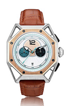 Load image into Gallery viewer, Classic 3 Dial watch Metallic silver automatic movement Hslop