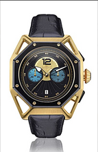 Load image into Gallery viewer, Classic 3 Dial watch Metallic gold automatic movement Hslop