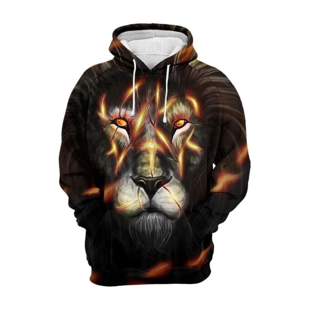 Lion King Thick 3D hoodie - 24 Hour Clearance Sale