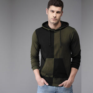 Two Colour Premium Hooded T-Shirt