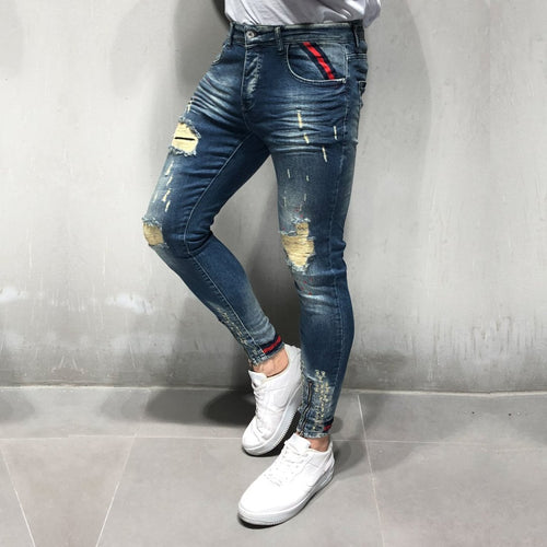 Premium Ribbed Denim premium denim jean - 100% Street Wear