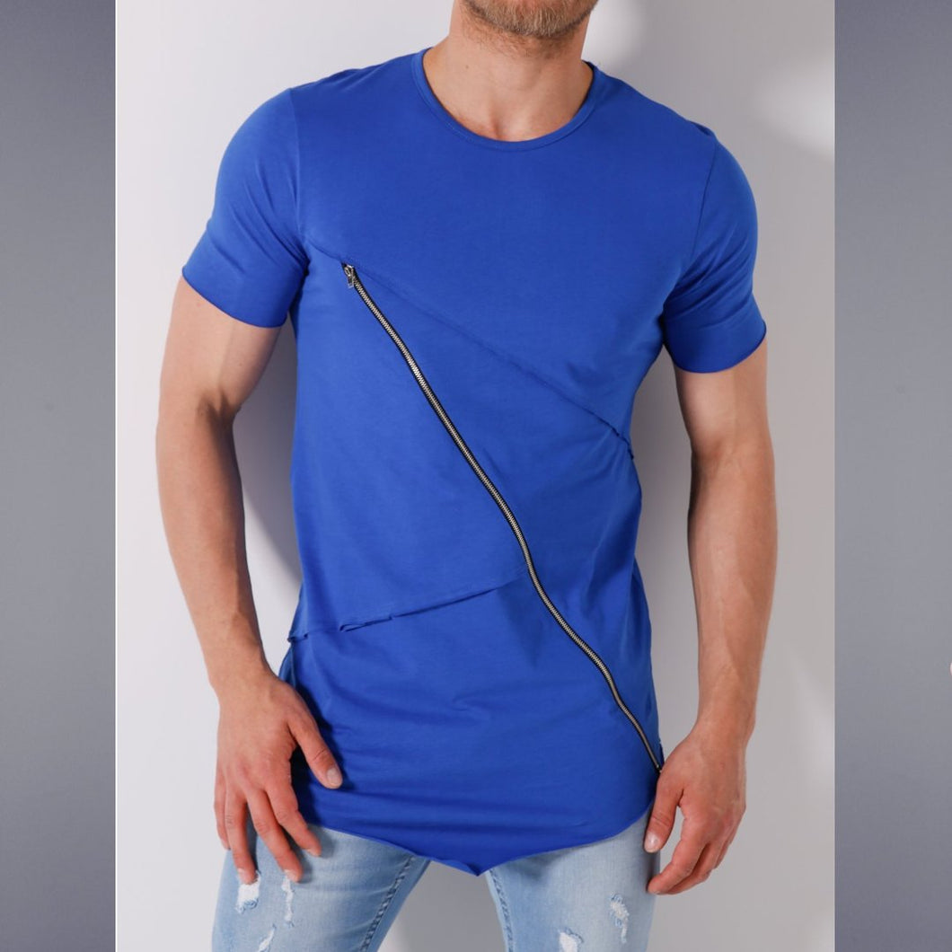 Royal Blue chained T-Shirt- Premium Wear on Discount