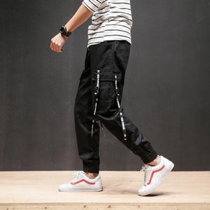 Side Pocket Black Premium Joggers - 100% Cotton Street Wear