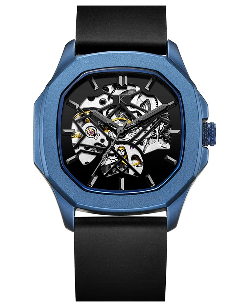 Blue Metallic Automatic Swiss Movement Watch On Ggp Quick Sale