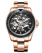 Load image into Gallery viewer, Round Dial Black and Rose Gold Automatic Swiss Movement Watch On Ggp Quick Sale