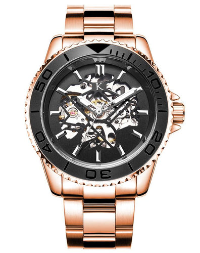 Round Dial Black and Rose Gold Automatic Swiss Movement Watch On Ggp Quick Sale