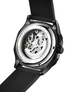 Carbon Black Automatic Swiss Movement Watch On Ggp Quick Sale