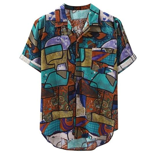 Multi colour half print' print shirt - Street Wear- 24 Hour Clearance Sale hslop
