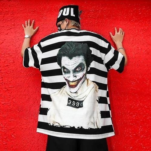 Joker Long Line Back Print T-Shirt - Premium Wear on Discount