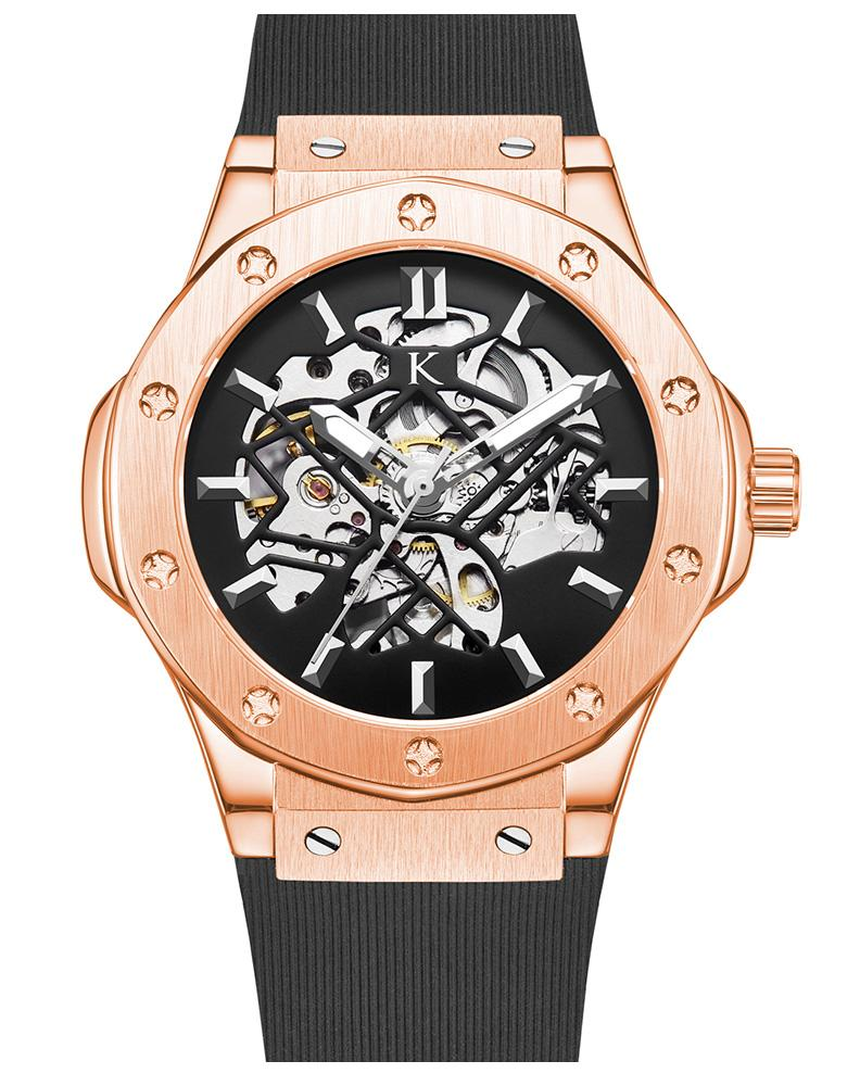 Round Dial Rose Gold Automatic Swiss Movement Watch On Ggp Quick Sale