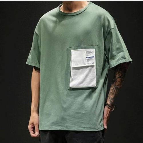 Pista Green Pocket T-Shirt - Premium Wear, 100% Cotton - Street Wear