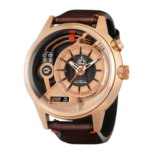 THE DESERT automatic chronographic luxury watch camel colour