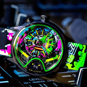 THE CABLE Z automatic chronographic luxury watch Splash colour