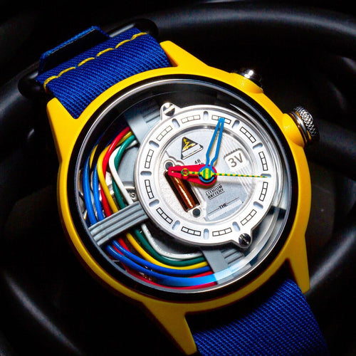 THE ZNOW automatic chronographic luxury watch blue gold