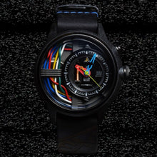 Load image into Gallery viewer, SHADOW automatic chronographic luxury watch dark black