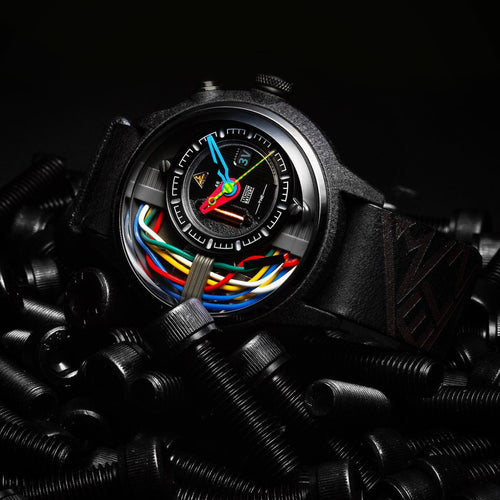 SHADOW automatic chronographic luxury watch dark black
