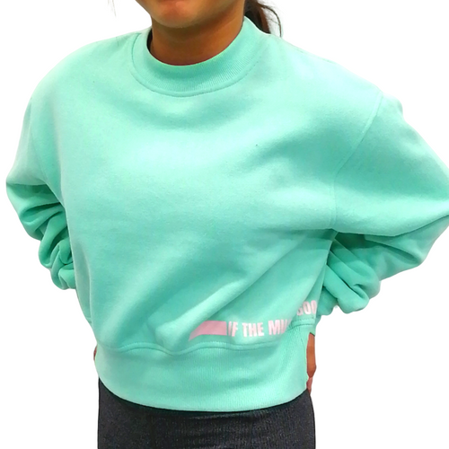 Buy online high quality The MVMNT Cropped Crew Neck - The Movement Boutique - Kelowna