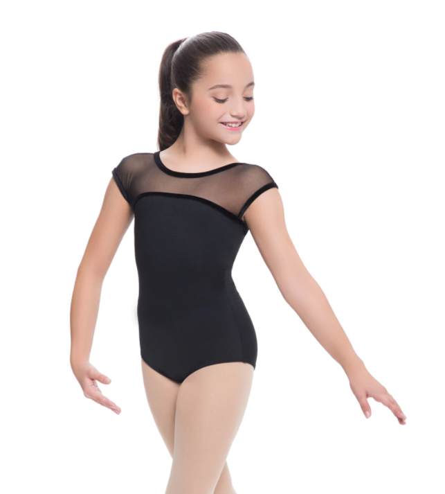 Buy online high quality Revolution Mesh Cap Sleeve Leotard - The Movement Boutique - Kelowna