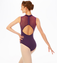 Load image into Gallery viewer, Buy online high quality Mirella Embroidered Cut Out High Neck Tank Leotard - The Movement Boutique - Kelowna